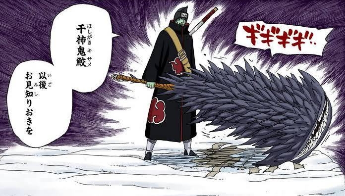 Kisame vs Hiashi, Neji e Hinata Image179