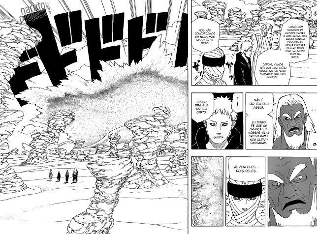 Sandaime Raikage vs Mei, Tsunade, Hinata e Sakura. Image187