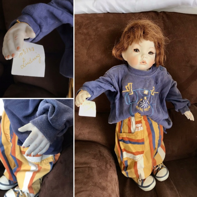 V: nombreuses poupées modernes en porcelaine - uniques Ludwig10
