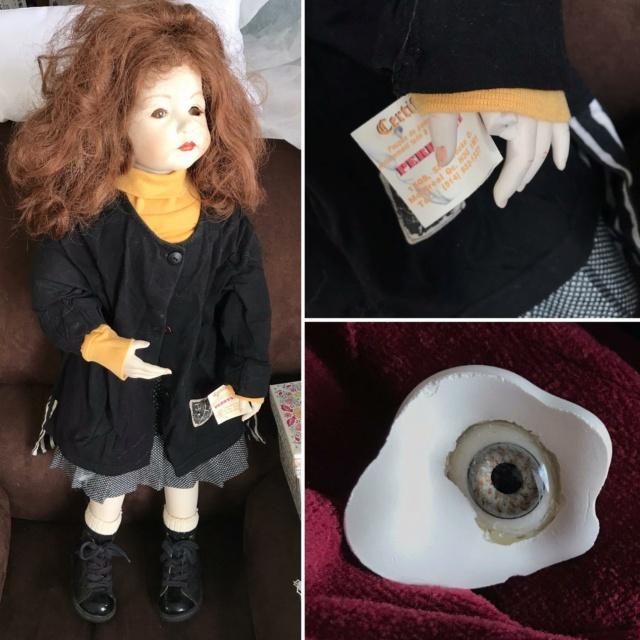 V: nombreuses poupées modernes en porcelaine - uniques Noir_e10