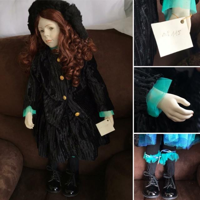 V: nombreuses poupées modernes en porcelaine - uniques Robe_n10