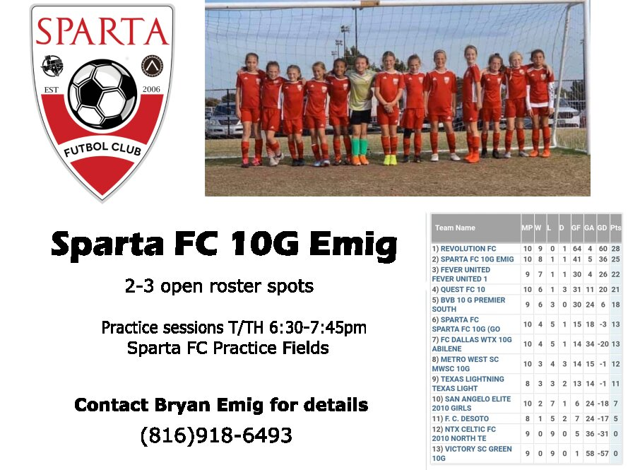 Sparta FC 10G Player10