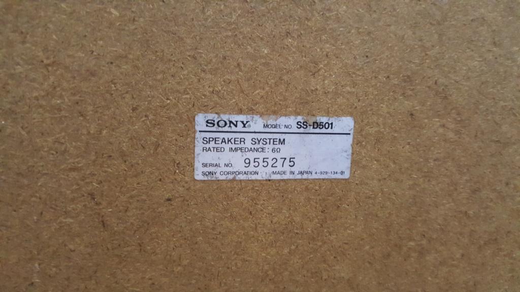 Sony 3way speaker system (SOLD) 20200912