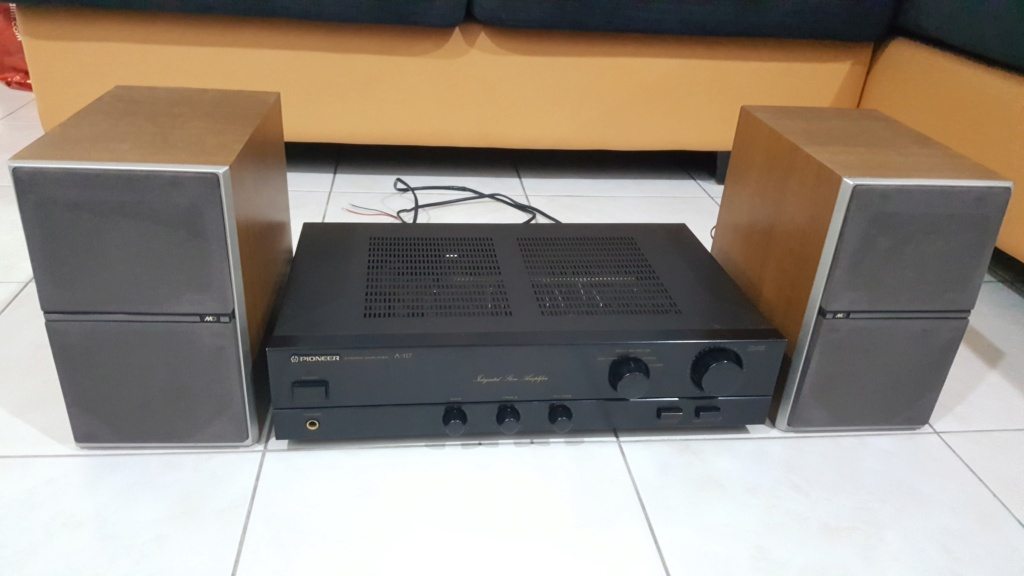 Pioneer Amp & Sharp spk. (SOLD) 20201016