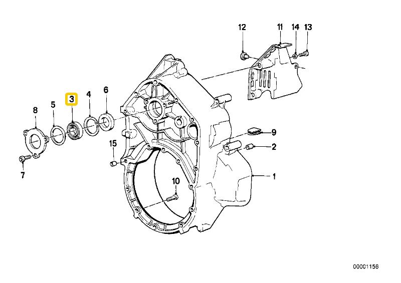 Bell housing alternator bearing Bearin11