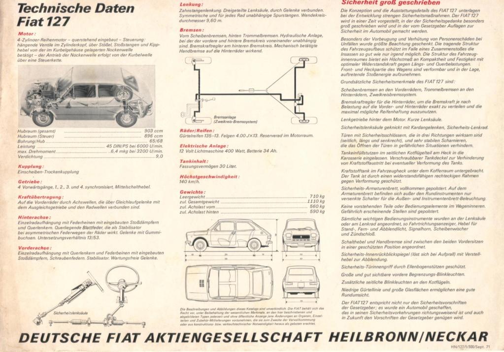 Catalogo FIAT 127 Tedesco Con Campionario Colori 09/71 44ccd610