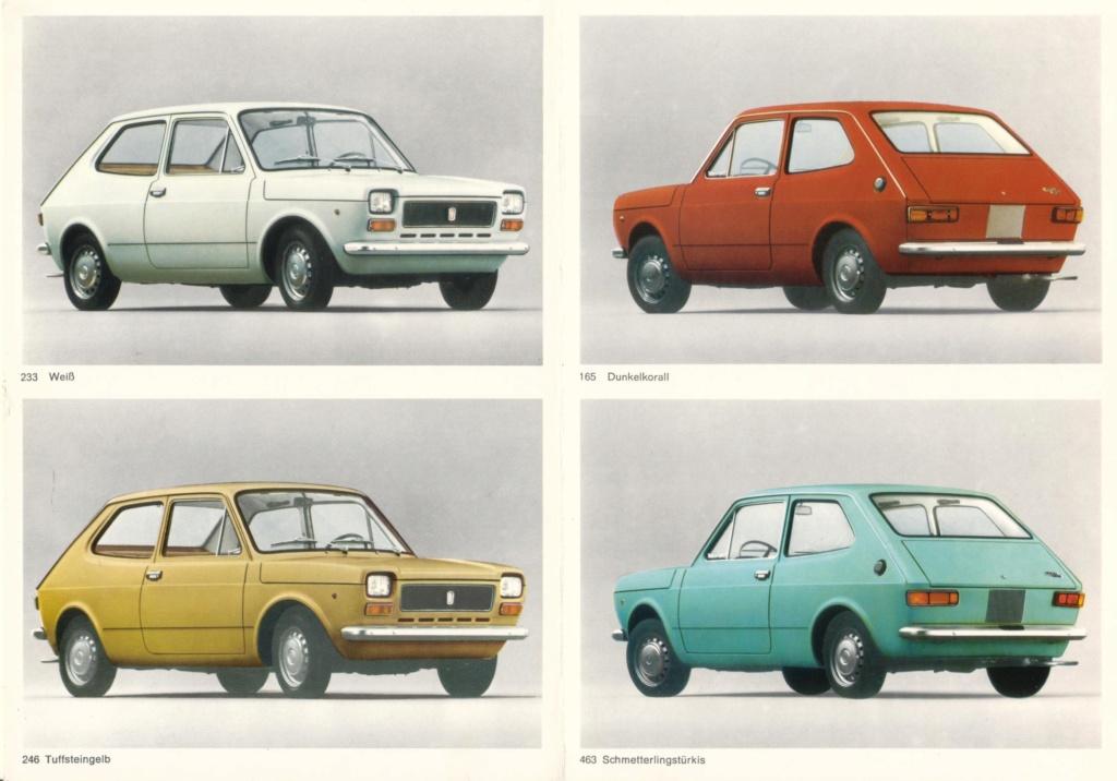 Catalogo FIAT 127 Tedesco Con Campionario Colori 09/71 7abe9210
