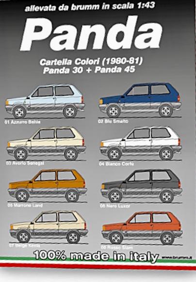 Campionario Colori FIAT Panda prima serie ( 1980-1985)  fatto dalla Brumm 7b7a1810