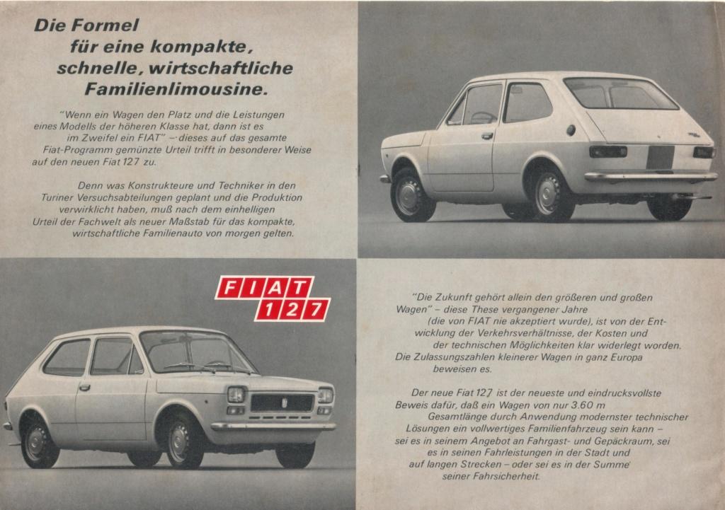 Catalogo FIAT 127 Tedesco Con Campionario Colori 09/71 97985510