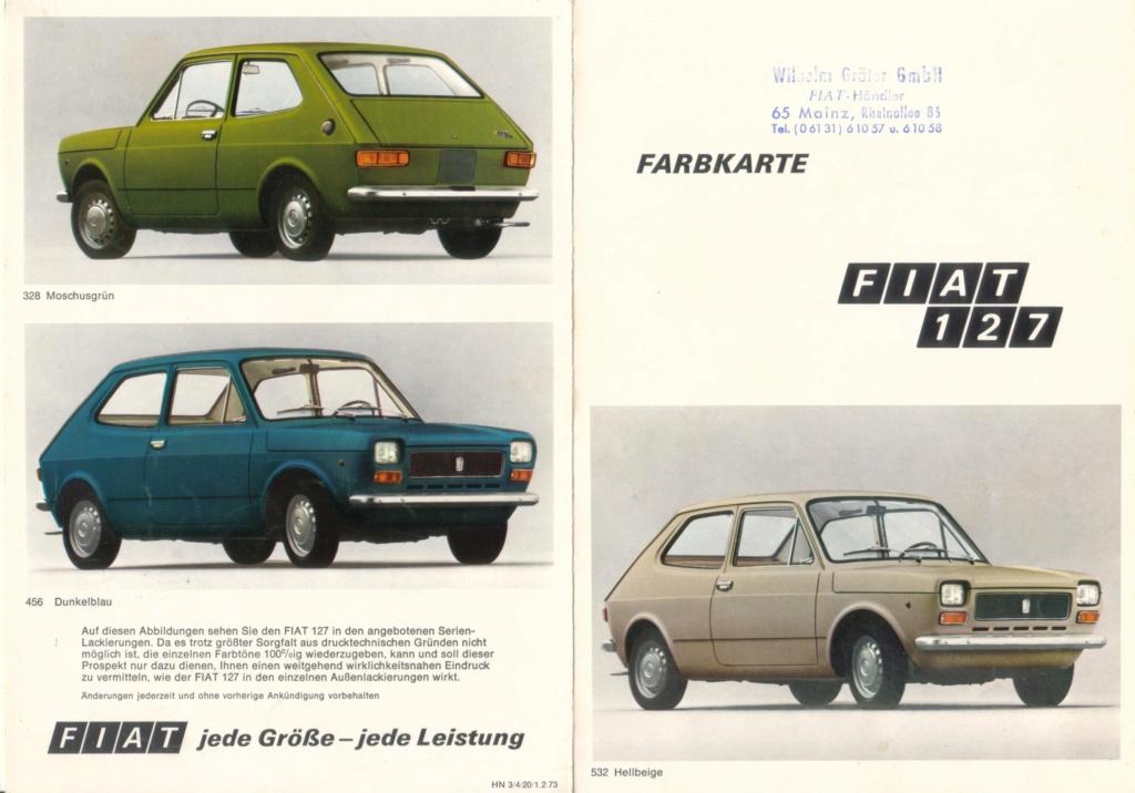 Catalogo FIAT 127 Tedesco Con Campionario Colori 09/71 B4a3bc10