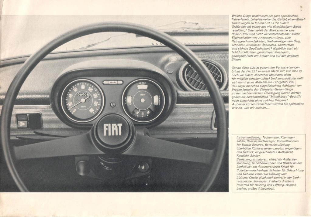 Catalogo FIAT 127 Tedesco Con Campionario Colori 09/71 D153b510