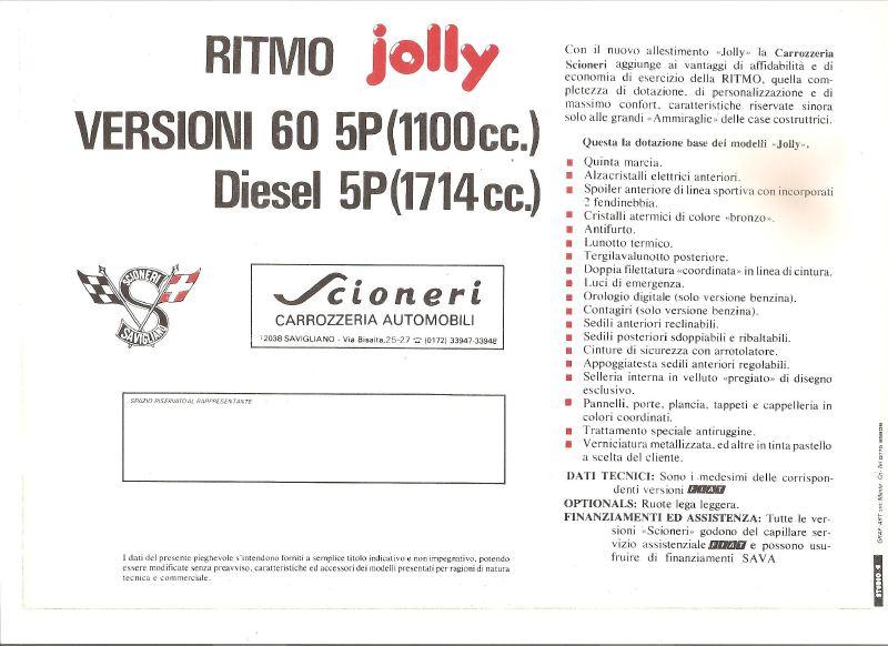 FIAT Ritmo SCIONERI Dd1daf10