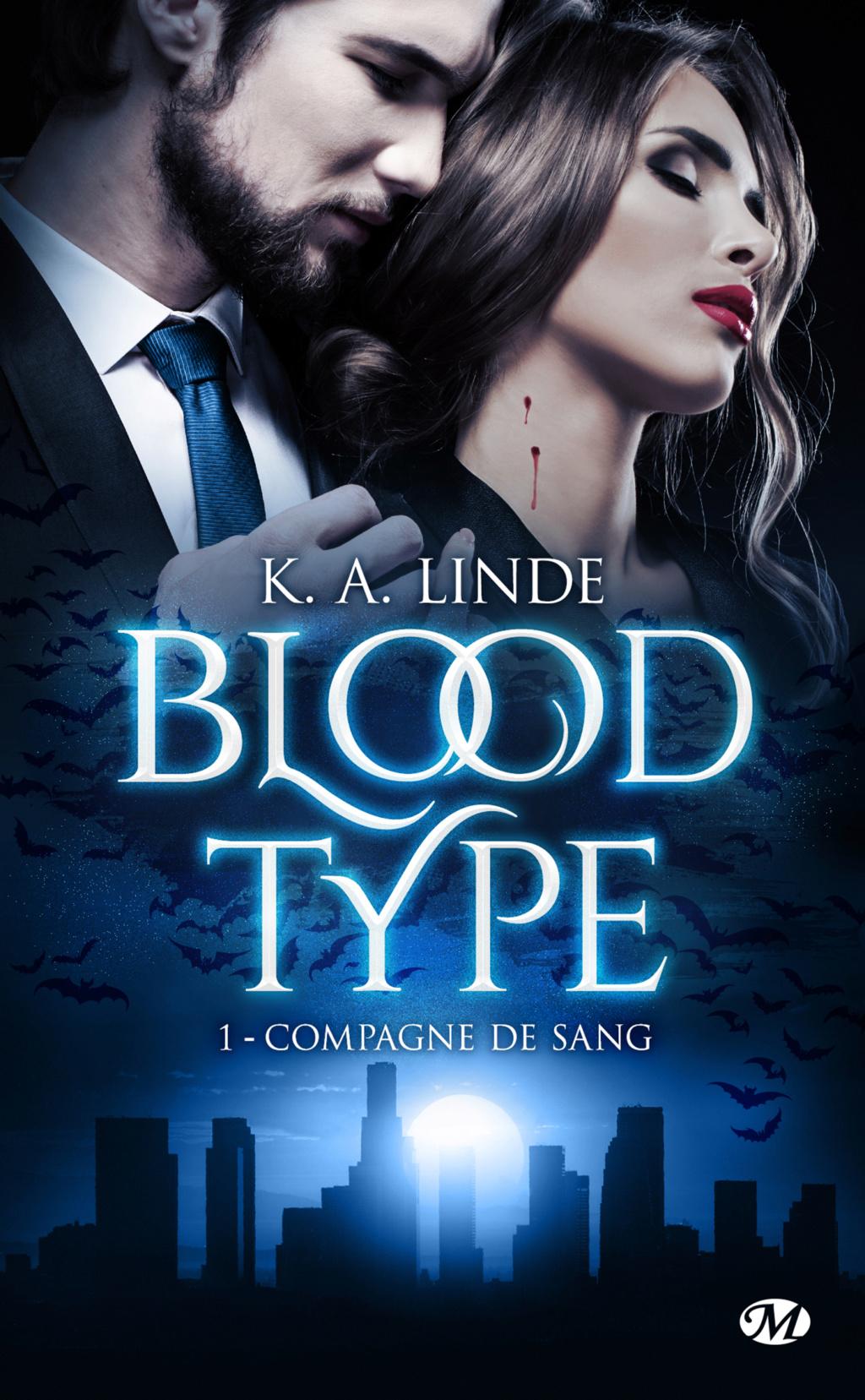Blood Type - Tome 1 : Compagne de sang de K. A. Linde Blood-10
