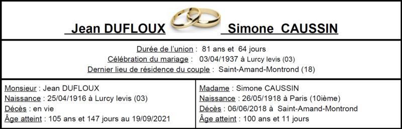 E- LES PLUS LONGS MARIAGES FRANÇAIS Image113