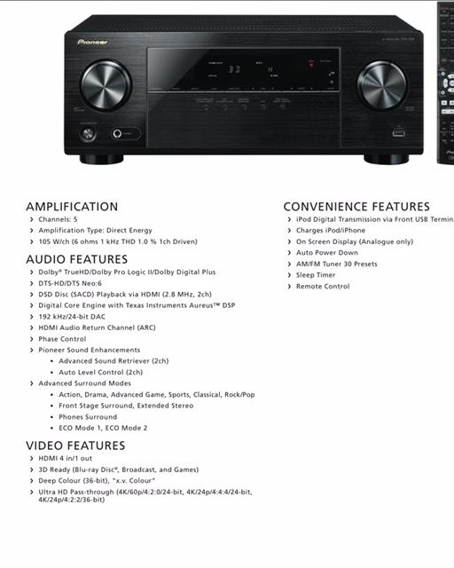 Pioneer VSX-329-K 5.1-channel AV Receiver (Used) Img_3110