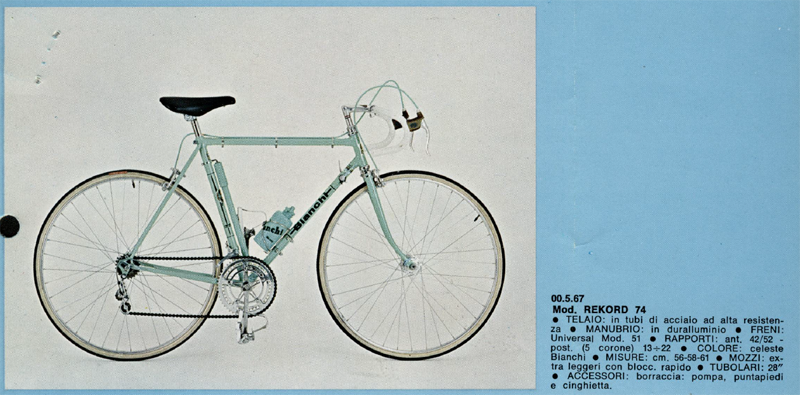 Identification vélo bianchi Bianch10