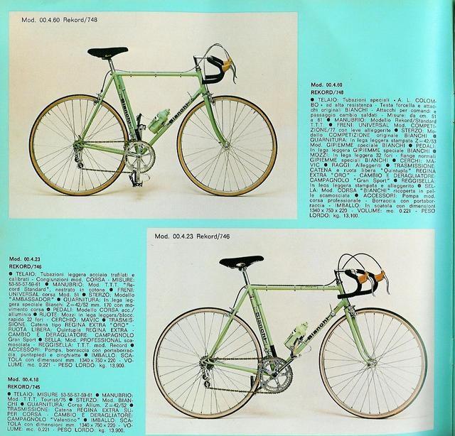 Identification vélo bianchi Post-610
