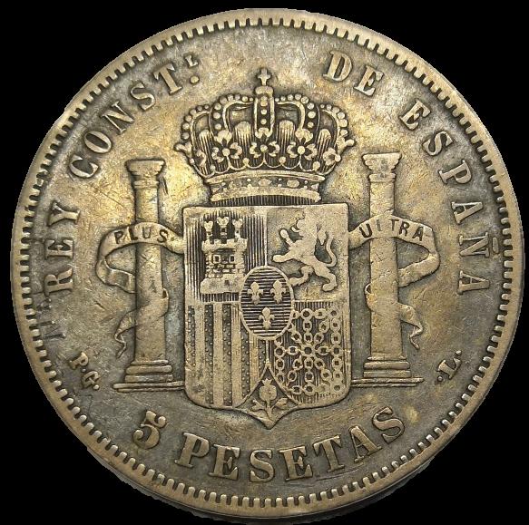 5 Pesetas Alfonso XIII 1893 Alf10