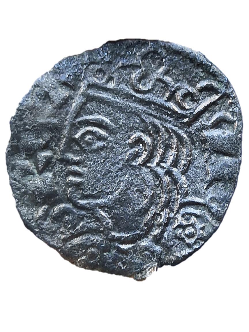 Dinero coronado o cornado de Alfonso XI. Toledo Cornad10