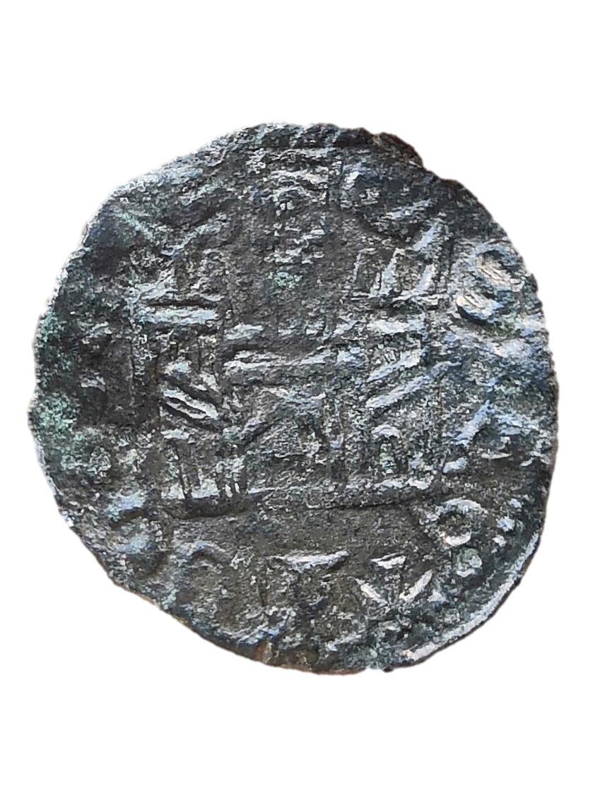 Dinero coronado o cornado de Alfonso XI. Toledo Cornad11