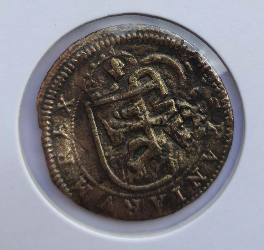 8 maravedis Felipe III resellados. Img_2030