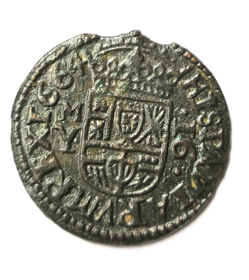 16 maravedis 1664 Felipe IV de Madrid Whatsa64