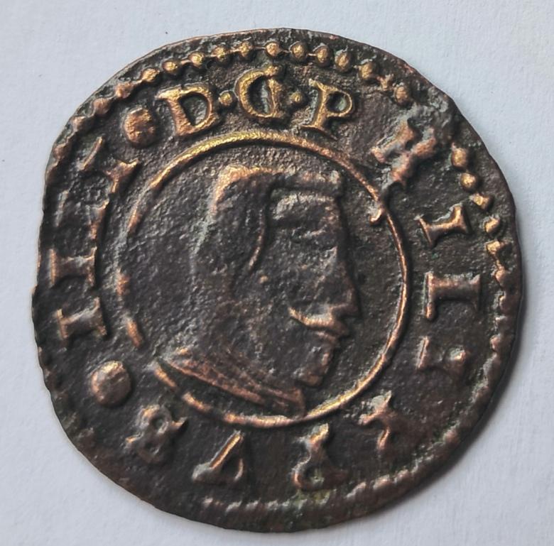 16 maravedís de Felipe IV, Segovia, 1661, falsos de época. Whatsa66