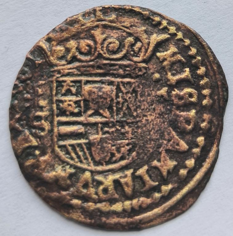 16 maravedís de Felipe IV, Segovia, 1661, falsos de época. Whatsa67
