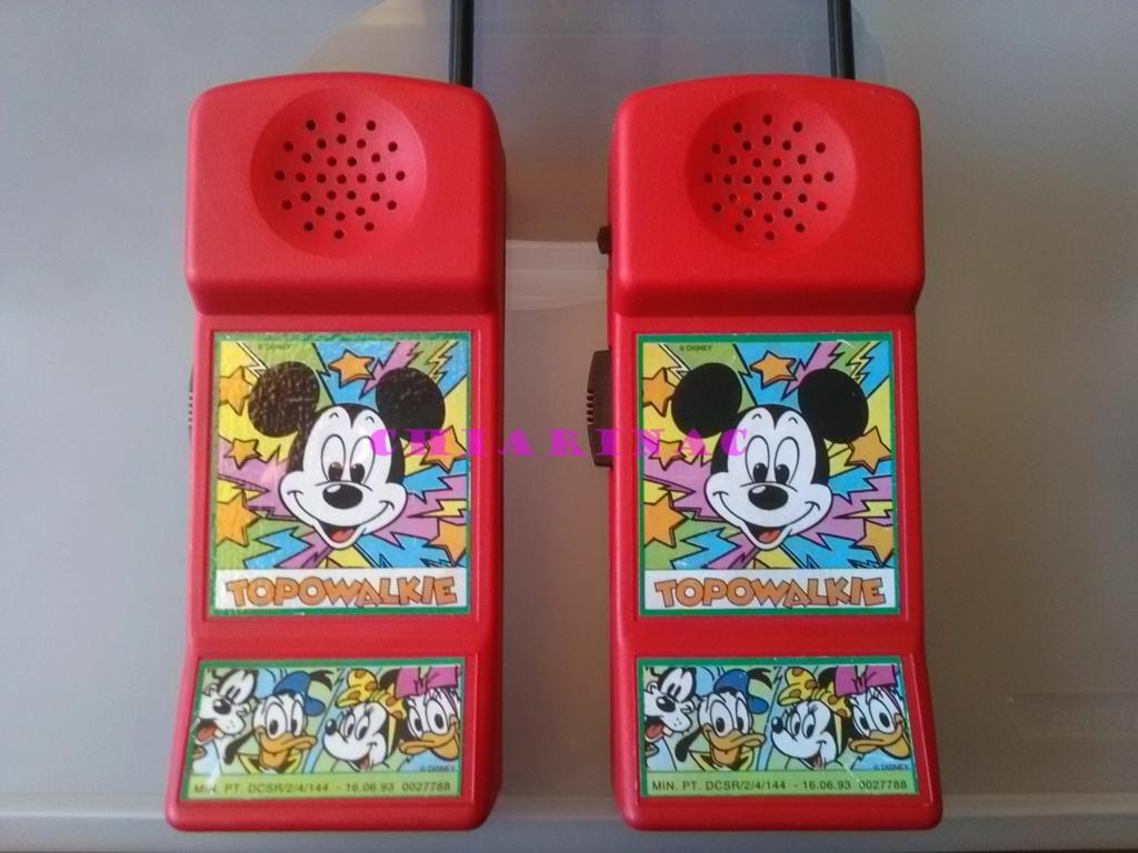 Topowalkie coppia, gadget allegato a Topolino luglio 1993 Img_2083