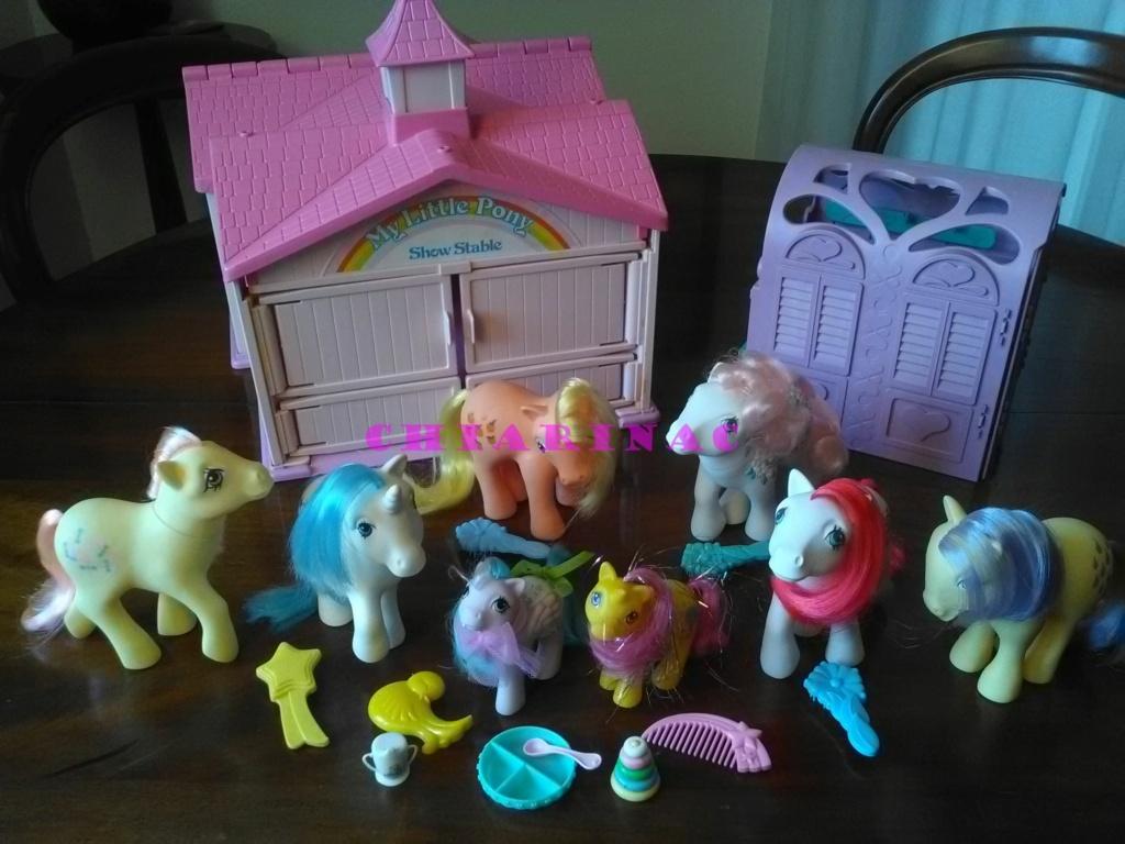 Vendo lotto Mio Mini Pony / My Little Pony Generazione 1 (G1) Gig Hasbro anni '80 (due playset e otto pony, anche rari; tutto supercompleto!) Img_2115