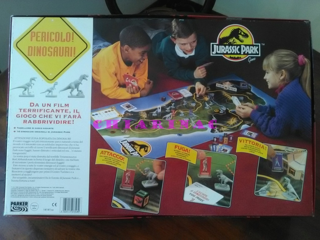 Jurassic Park Game, gioco da tavolo Parker 1993 Img_2129