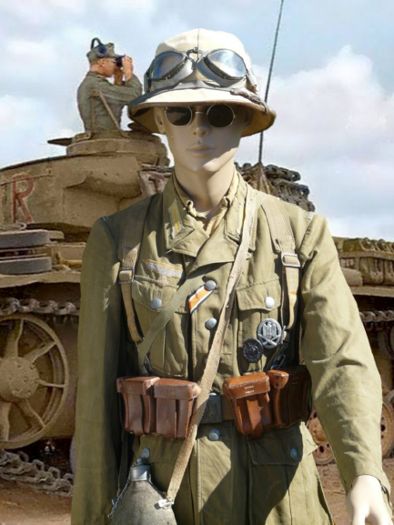 Soldat Afrikakorps devant El Alamein  260-re13