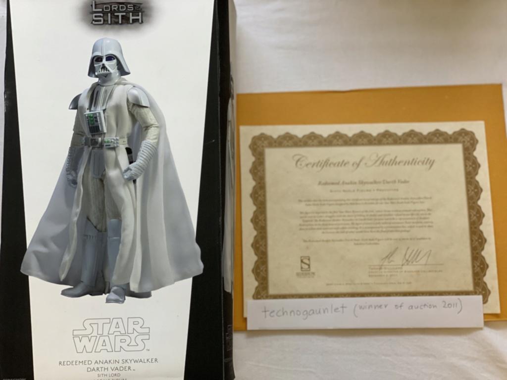 FS:  SIDESHOW Redeemed Anakin Skywalker White Vader (1 in the world) Img_6510
