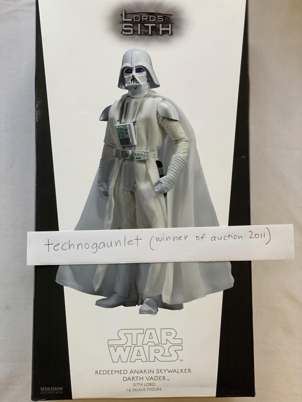 FS:  SIDESHOW Redeemed Anakin Skywalker White Vader (1 in the world) Img_6512
