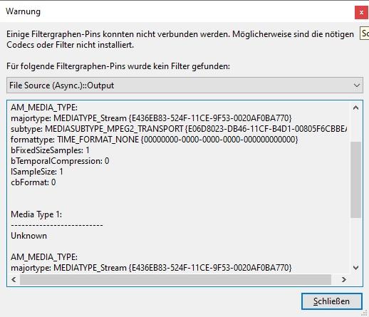 Error Codes for MPEG-2 Transport (Stream) Klite_10