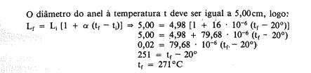 Dilatação Linear - Não entendi uma parte do cálculo. Captur11