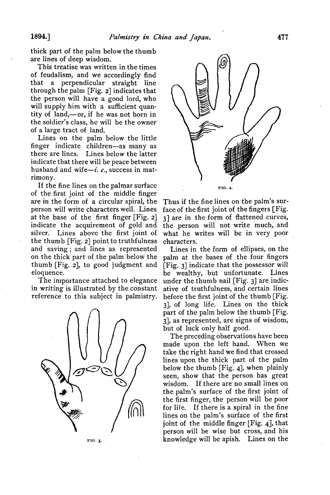 Stewart Culin - Palmistry in China and Japan 210