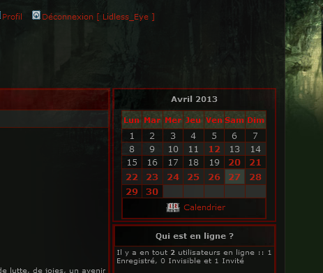 Forum - Activation du calendrier Calend11