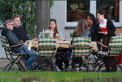 Photo: George Clooney holds BBQ and left Germany today Bbq_110