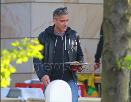 Photo: George Clooney holds BBQ and left Germany today Bbq_1210