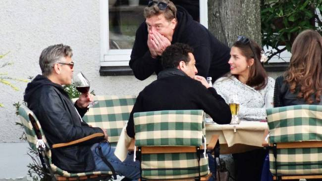 Photo: George Clooney holds BBQ and left Germany today Bbq_1510