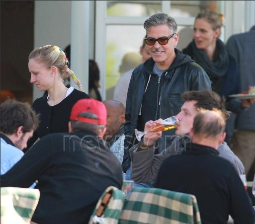 Photo: George Clooney holds BBQ and left Germany today Bbq_210