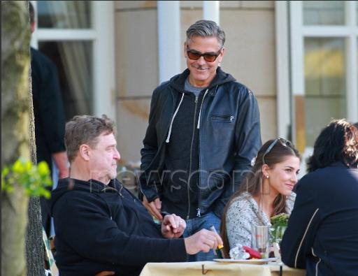 Photo: George Clooney holds BBQ and left Germany today Bbq_510