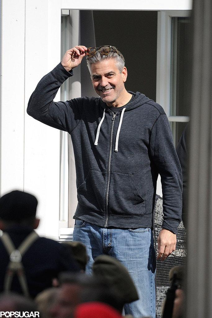 Photos: George Clooney filming in Goslar, Germany Goslar14