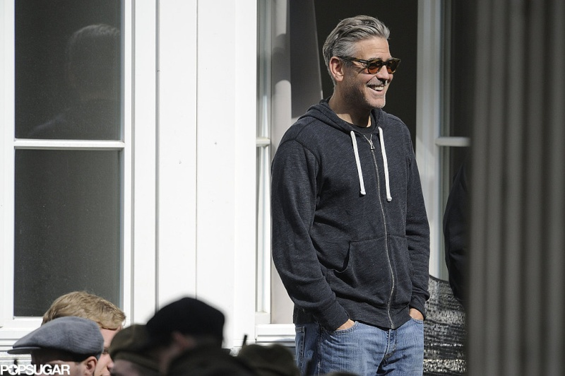 Photos: George Clooney filming in Goslar, Germany Goslar15