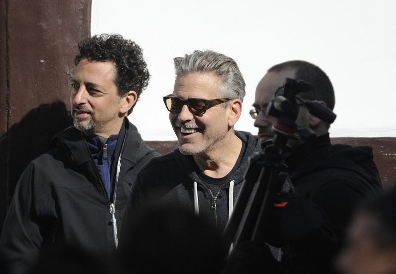 Photos: George Clooney filming in Goslar, Germany Goslar19