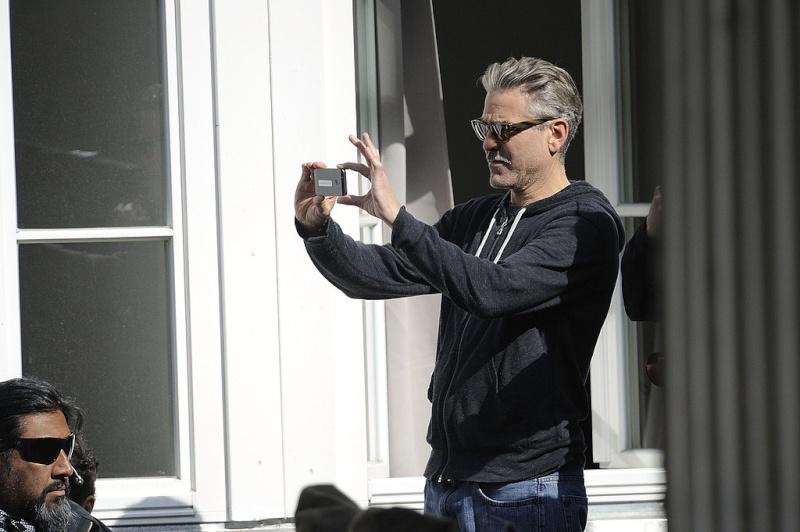 Photos: George Clooney filming in Goslar, Germany Goslar20