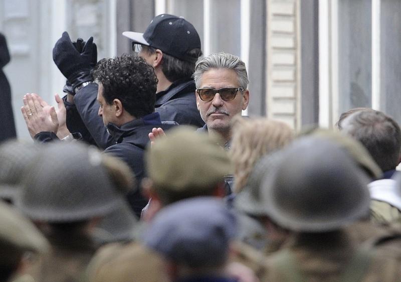 Photos: George Clooney filming in Goslar, Germany Goslar21
