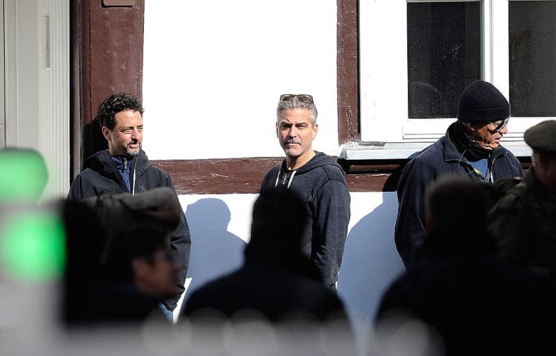 Photos: George Clooney filming in Goslar, Germany Goslar23