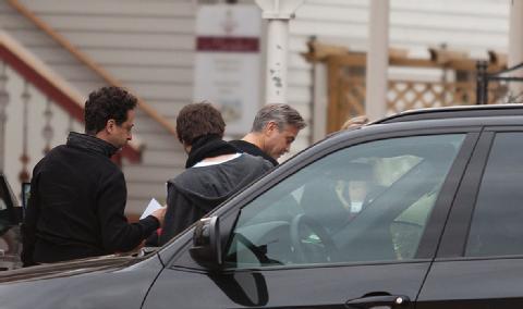 Photos: George Clooney filming in Ilsenburg, Germany Ilsenb10